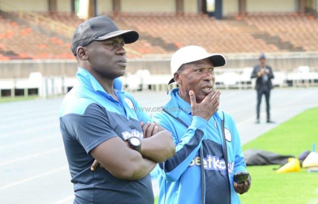 sofapaka coach baraza during training