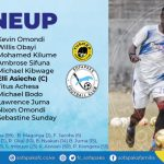 ROUND FIVE MATCH LINEUP AGAINST TUSKER FC