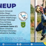ROUND SIX MATCH LINEUP AGAINST MATHARE FC