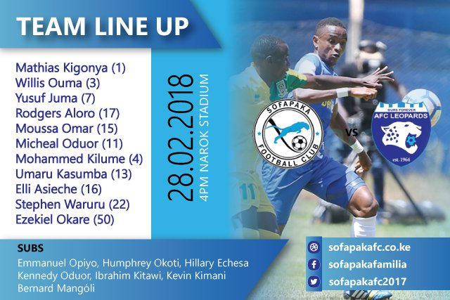 sofapaka_28.02.2018_vs_AFC_leopards_lineup