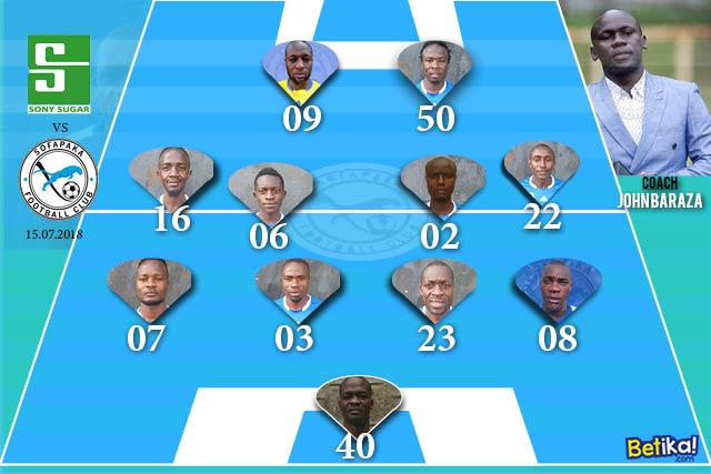 game formation sony sugar vs sofapaka round 2, 2018