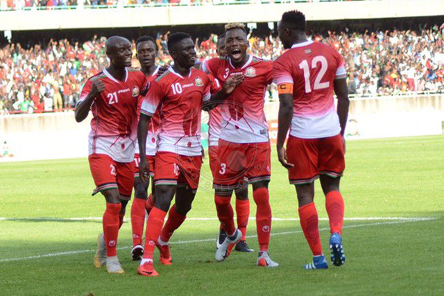 dennis-odhiambo-celebrating-with-the-harambee-stars-teammates