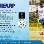 ROUND THIRTY ONE MATCH LINEUP AGAINST WAZITO